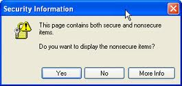 This page contains both secure and non-secure items - Protocol Relative URL may be needed