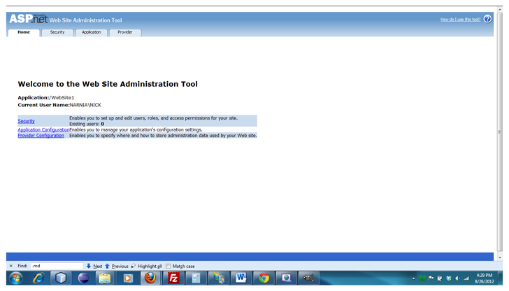 asp-net-web-site-administration-tool