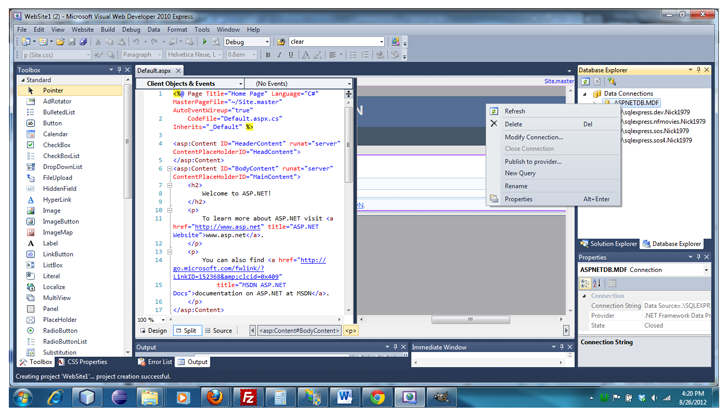 visual-studio-login-aspnetdb-mdf-publish-provider
